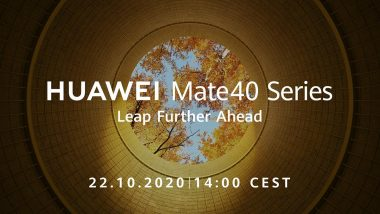 Huawei Mate 40 Series with Kirin Chipset to Debut on October 22, 2020