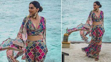 Yo or Hell No? Taapsee Pannu's Colourful Sharara Set by Varun Bahl