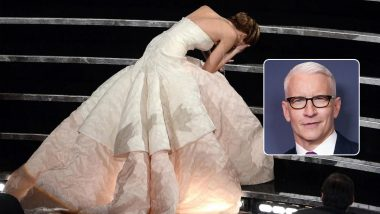 Jennifer Lawrence Says She Confronted Anderson Cooper After He Accused Her of Fake Oscars Fall
