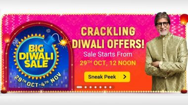 Flipkart Big Diwali Sale 2020 To Start From October 29; Huge Offers & Discounts on Smartphones, Gadgets, Smart TVs & Electronics