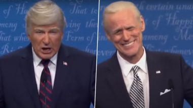 Saturday Night Live Returns to Studio with Jim Carey, Alec Baldwin's Parody of This Week's Presidential Debate (Watch Video)