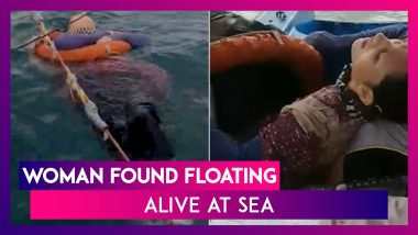 Woman Who Went Missing Two Years Ago Found Floating Alive At Sea; Watch The Dramatic Video