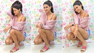Aahana Kumra Is Giving Off That Fizzy, Fuzzy Feeling for Pink With a Pair of Thrifty Chic Sandals Worth Rs.800!
