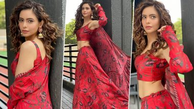 Aamna Sharif Is Having Yet Another Floral Moment, This Time It's a Caped Lehenga!