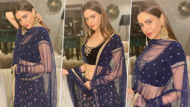 Aamna Sharif Is Being Velveteen Chic in Royal Blue With an Abundance of Florals!