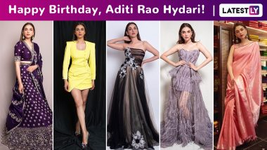 Aditi Rao Hydari Birthday Special: Infusing Life Into Ensembles With a Signature Quaint, Exquisite and Ethereal Charm!