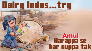 Amul Topical Ad on Harappan Archaeological Findings About Cheese-Making in India From 4,500 Years Ago is a Nice Take on Dairy 'Indus'try (View Pic)