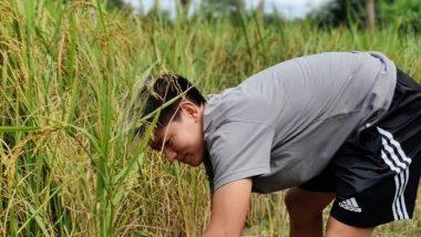 Anju Tamang, India Women's Football Team Forward, Enjoys Working on a Farm in Her Home Village Rangalibazna
