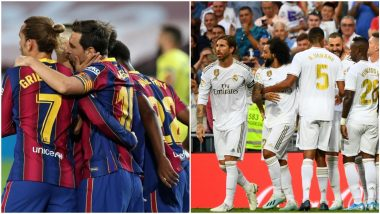 Barcelona vs Real Madrid Free Live Streaming Online, El Clasico 2020: How to Get La Liga Match Live Telecast on TV & Football Score Updates in IST?