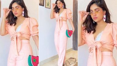 Bhumi Pednekar Channelling That Vintage Inspired Pink Holiday Set Worth Rs.8,500!