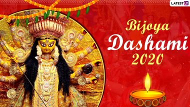 Subho Bijoya Dashami 2020 HD Images, Wishes and Wallpapers for Free Download Online: WhatsApp Stickers, Vijayadashmi Greetings, GIFs, Maa Durga Photos, Instagram Stories, Messages And SMS to Send on the Occasion