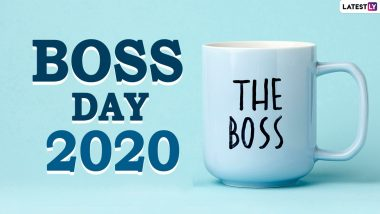 Boss's Day Images & HD Wallpapers For Free Download Online: Wish Happy Boss's Day 2020 With WhatsApp Stickers and GIF Greetings