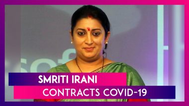 Union Minister Smriti Irani Contracts COVID-19 Days After Campaigning In Bihar Elections 2020; BJP's Bihar Poll Campaign In Charge Devendra Fadnavis & Deputy CM Sushil Kumar Modi, Star Campaigners Of The Assembly Election Also Infected