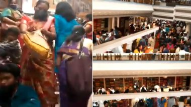 Chennai's Kumaran Silks Saree Store Sees Huge Crowds to Buy Old Stocks, Shop Sealed After Video of No Social Distancing and Violation of COVID-19 Protocol Goes Viral
