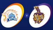 CSK vs KKR Live Score Updates Dream11 IPL 2020: Chennai Super Kings Have Won Toss and Asked Kolkata Knight Riders to Bat First