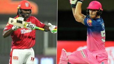 KXIP vs RR Stat Highlights IPL 2020: Chris Gayle, Ben Stokes Create Records During Rajasthan Royals' 7-Wicket Triumph