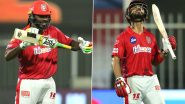 KKR vs KXIP Stat Highlights IPL 2020: Chris Gayle, Mandeep Singh Achieve Milestones During Kings XI Punjab's 8-Wicket Victory