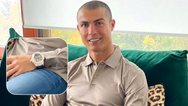 Cristiano Ronaldo Spotted Wearing Expensive Hublot MP-09 Watch Worth Over Rs 1 Million in Latest Instagram Picture (See Post)