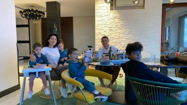 Cristiano Ronaldo Says 'Good Morning' With a Perfect Family Pic After Juventus vs Napoli Match Gets Abandoned