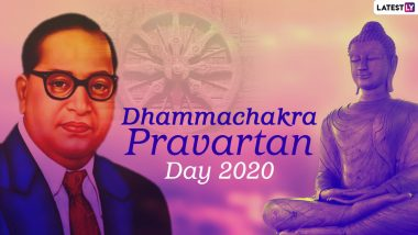Dhammachakra Pravartan Day 2020 Greetings and Wishes in Marathi: WhatsApp Stickers, Facebook Messages, HD Images, GIFs and BR Ambedkar Quotes to Send on Dhamma Chakra Pravartan Din