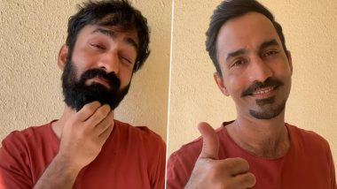 KKR Skipper Dinesh Karthik Accepts Kieron Pollard's Break the Beard Challenge, Comes Up With New Look (Watch Video)