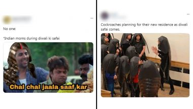 Diwali Ki Safai Funny Memes Trend Online as Netizens Comfort Themselves With Jokes on Reluctantly Cleaning Homes For Deepavali 2020