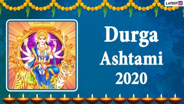 Happy Durga Ashtami 2020 Wishes and Greetings: WhatsApp Stickers, Durga Puja GIFs, Facebook Messages, SMS to Send Wishes of Subho Maha Ashtami