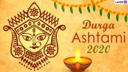 Durga Ashtami Images & HD Wallpapers for Free Download Online: Wish Happy Maha Ashtami 2020 With WhatsApp Stickers and GIF Greetings During Durga Puja