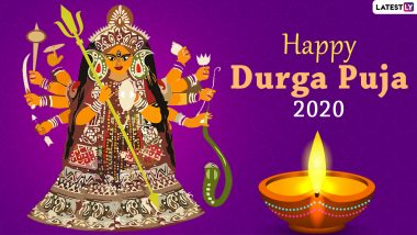 Durga Puja 2020 Images & Pujo HD Wallpapers for Free Download Online: Wish Happy Durga Puja With New WhatsApp Stickers and GIF Greetings