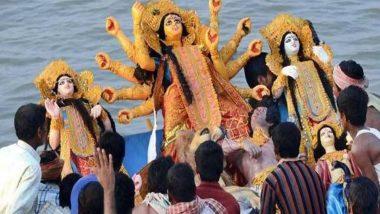 Subho Bijoya Dashami 2020! Durga Visarjan Images and Videos Take over Social Media on Vijayadashmi as Devotees Bid Maa Durga Goodbye