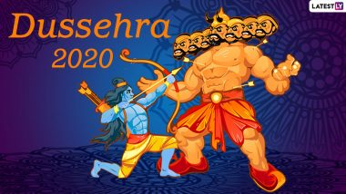 Dussehra Shubhechha 2020 Wishes, Greetings & Ram Ravan Antim Yudh HD Images: Twitter Says Happy Dasara with Amazing Quotes, GIFs & Ravan Effigy Burning Pics