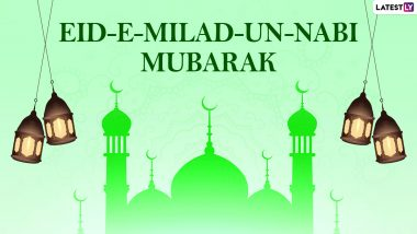 Eid-e-Milad un-Nabi Mubarak 2020 Greetings in Urdu & HD Images: WhatsApp Stickers, Facebook Greetings, Mawlid Quotes, GIFs, SMS & Messages to Send on Prophet Muhammad's  Birthday