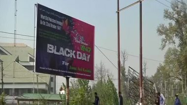 India to Observe Oct 22 as Black Day to Highlight Pakistan-Backed Militia's Invasion of J&K