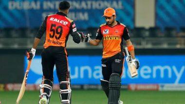 RR vs SRH, IPL 2020 Match Result: Manish Pandey, Vijay Shankar Propel Sunrisers Hyderabad to Easy Eight-Wicket Win Over Rajasthan Royals