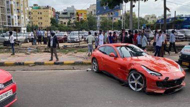 Ferrari Car Mows Down Pedestrian in Hyderabad's Madhapur, Driver Arrested