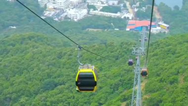 Girnar Ropeway Inaugurated by PM Narendra Modi; Ticket Fare, Capacity And Other Things to Know About 'Longest' Cable Car to Temple in Gujarat