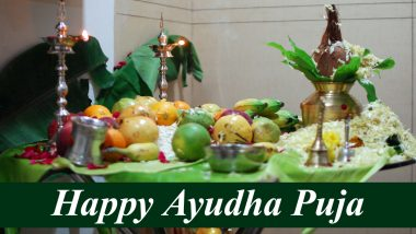 Dussehra Shubhechha 2020 Images With Ayudha Puja 2020 Wishes: WhatsApp Stickers, Dasara GIFs, Shastra Puja Facebook Photos, SMS and HD Wallpapers to Send Messages of This Auspicious Day