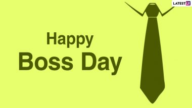 National Boss's Day 2020 Messages, Funny Quotes & HD Photos: WhatsApp Stickers, Facebook Status, Instagram Stories, GIFs and SMS to Greet Your Boss!