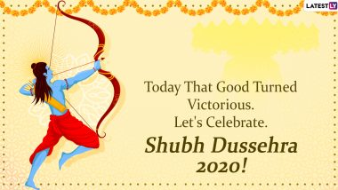 Happy Vijayadashmi Images and Dussehra Wallpapers: WhatsApp Stickers, Facebook GIFs, Greetings and Instagram Quotes to Send Wishes on Bijoya Dashami Day