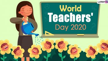 Happy World Teachers' Day 2020 HD Images And Wallpapers For Free Download Online: WhatsApp Stickers, GIF Photos And Messages to Wish Your Mentor