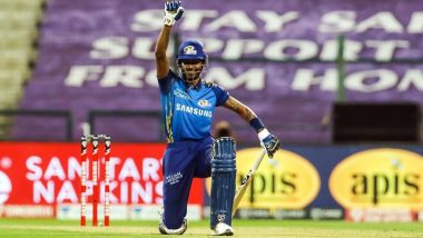 Hardik Pandya Shows Solidarity Towards Black Lives Matter Movement, Mumbai Indians Star Shares Picture of Him Taking a Knee After Scoring Fifty in RR vs MI IPL 2020 Match