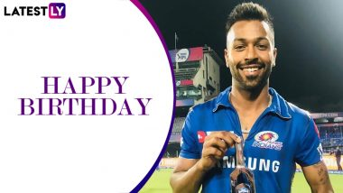 Hardik Pandya Birthday Special: 10 Quick Facts About the Mumbai Indians Star As He Turns 27