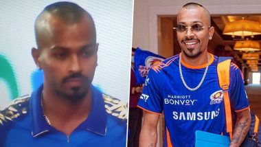 Hardik Pandya Sports New Hairstyle in MI vs KXIP Match in Dream11 IPL 2020, Netizens Come Up With Funny Memes