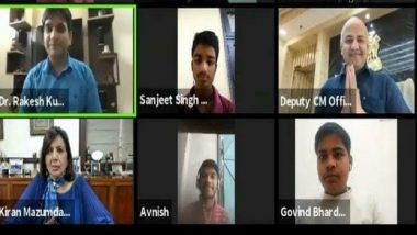 Kiran Mazumdar Shaw, Manish Sisodia Interact With Delhi Government School Students During 10th Digital EMC Session