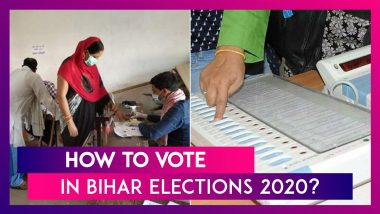 Bihar Assembly Elections 2020: How To Vote Using EVM & VVPAT? All You Need To Know About The Electronic Voting Machine And Voter Verified Paper Audit Trail