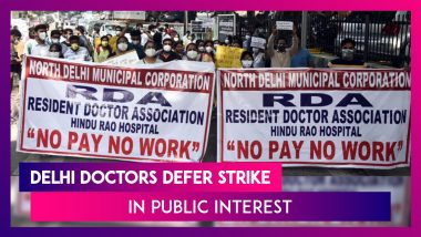 Delhi Doctor's Association Defer Strike Over Pending Salary Dues In Public Interest, Want Demands Fulfilled Within A Week