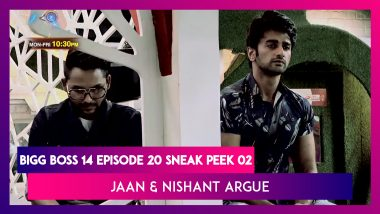 Bigg Boss 14 Episode 20 Sneak Peek 02 | Oct 29 2020: Jaan & Nishant Confront Each Other