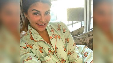 Jacqueline Fernandez Is Easy Chic in a Butterfly Printed PJ Suit Worth