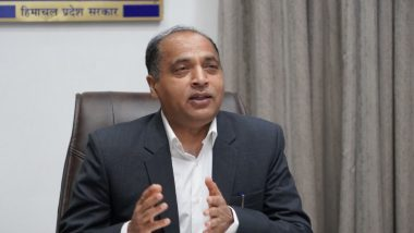 Himachal Pradesh CM Jai Ram Thakur Wants a Major Airport for State's Growth As International Tourist Destination