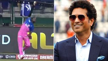 Sachin Tendulkar Hilariously Describes Jofra Archer's Spectacular Catch During RR vs MI Clash in IPL 2020 (View Tweet)